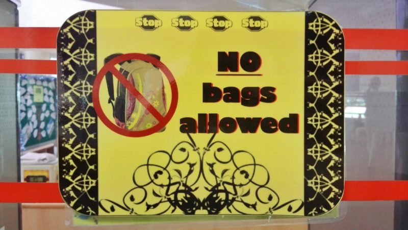 No Bags Allowed: The VJC Library