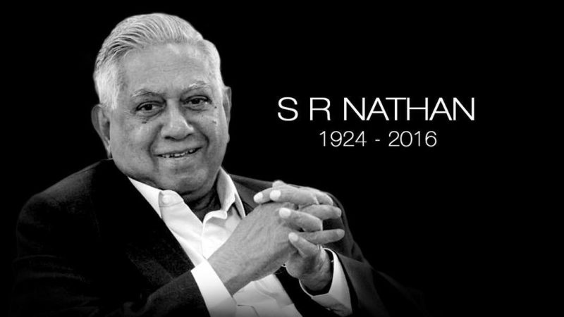 In Memory of Mr S R Nathan
